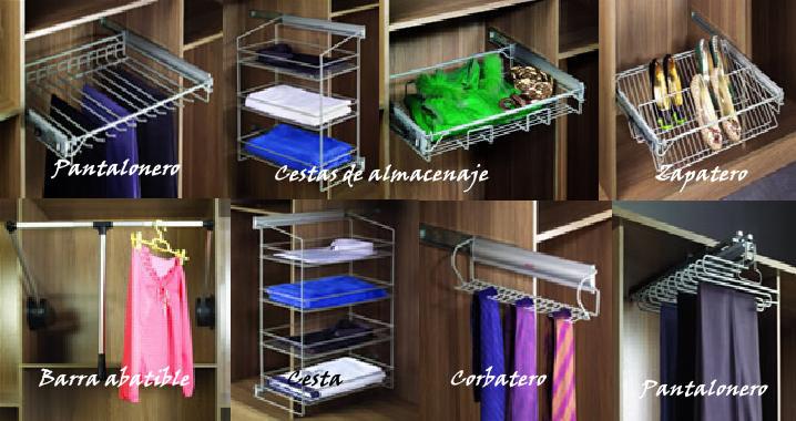 Herrajes interior armariostableros andr s s l tableros - Herrajes para armarios empotrados ...